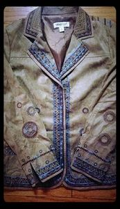 EUC Coldwater Creek Boho Embroidered Jacket